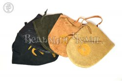 Мешочек кожаный для амулетов и маятников