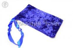 Мешочек для Таро и Рун синий с рисунком