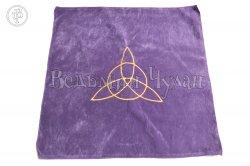 Алтарная скатерть Трикветр фиолетовая