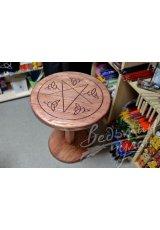 Стол алтарный круглый Пентаграмма