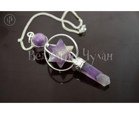 Магический кристалл Меркаба (аметист)