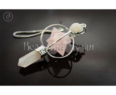 Магический кристалл Меркаба (розовый кварц)