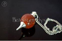 Маятник шар Красная яшма