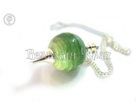 Маятник шар Зеленый авантюрин