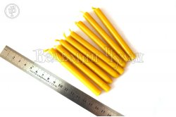 Свечи восковые желтые 10 см