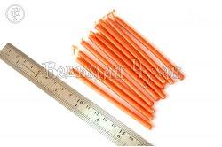 Свечи восковые оранжевые 10 см