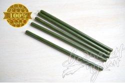 Свечи восковые зеленые 21 см