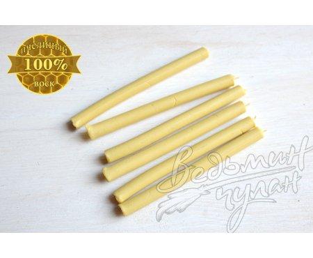 Свечи восковые белые 10 см