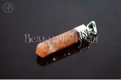 Кулон кристалл Авантюрин персиковый