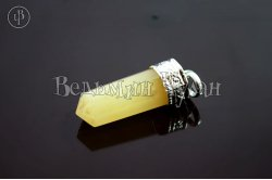 Кулон кристалл Авантюрин желтый