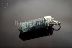 Кулон кристалл Авантюрин серебряный